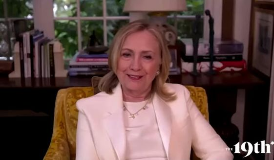 Former Secretary of State Hillary Clinton said Thursday that President Trump will not go down without a fight if he loses the election to presumptive Democratic nominee Joe Biden. (screengrab via YouTube/@The 19th)