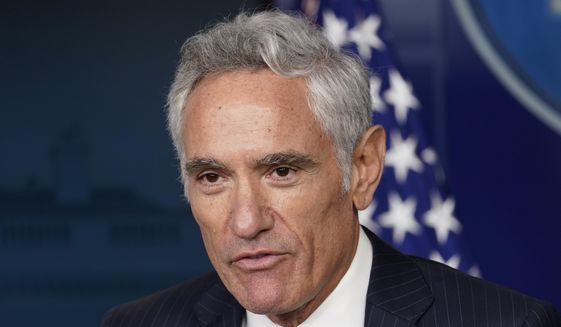 In this Aug. 12, 2020, file photo Scott Atlas, senior fellow at the Hoover Institution, speaks at a news conference in the James Brady Press Briefing Room at the White House in Washington. (AP Photo/Andrew Harnik, File)  *FILE**