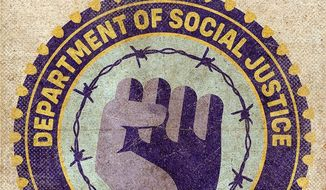 Social Injustice Department Illustration by Greg Groesch/The Washington Times