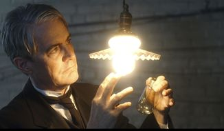 "This image released by IFC Films shows Kyle MacLachlan in a scene from ""Tesla."" (IFC Films via AP)"