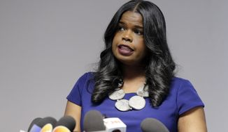 FILE - In this Feb. 22, 2019 file photo, Cook County State's Attorney Kim Foxx speaks at a news conference, in Chicago. A special prosecutor in Chicago says Foxx and her office abused their discretion in the case against actor Jussie Smollett but did nothing criminal. (AP Photo/Kiichiro Sato, File)
