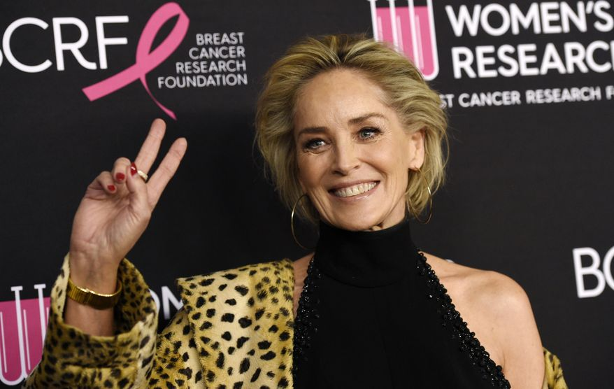 "In this Feb. 28, 2019, file photo, actress Sharon Stone poses at the 2019 ""An Unforgettable Evening"" benefiting the Women's Cancer Research Fund, at the Beverly Wilshire Hotel in Beverly Hills, Calif. (Photo by Chris Pizzello/Invision/AP, File)"