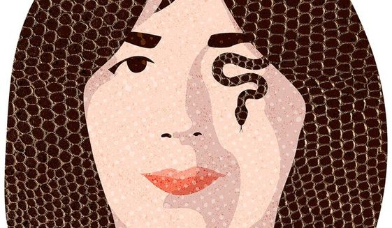 Ghislaine the Snake Illustration by Greg Groesch/The Washington Times