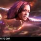 "Sen. Kamala Harris appears as Marvel's ""Captain Marvel"" in an ""Avengers: Endgame"" parody by comedian Stephen Colbert, Aug. 17, 2020. (Image: YouTube, ""The Late Show with Stephen Colbert"" video screenshot)"