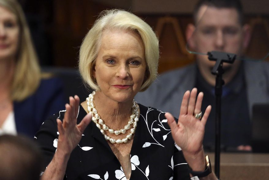 Cindy McCain, widow of the late Sen. John McCain, is shown in this undated file photo (AP Photo/Ross D. Franklin, File) **FILE**