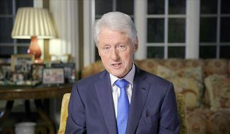 In this image from video, former President Bill Clinton speaks during the second night of the Democratic National Convention on Tuesday, Aug. 18, 2020. (Democratic National Convention via AP)