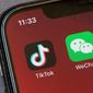 President Trump announced earlier this month that messaging app WeChat and social media app TikTok are threats to national security. (Associated Press)