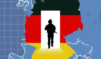 Illustration on Germany by Linas Garsys/The Washington Times