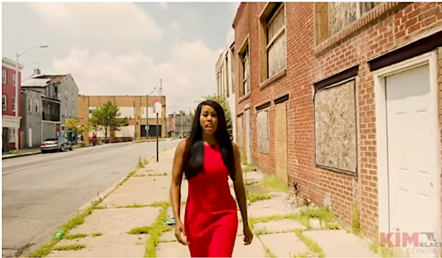 Kimberly Klacik, a Black Republican running for office in Baltimore, has produced a stark campaign ad that has drawn the attention of President Trump and the national media. (Image courtesy of Kimberly Klacik for Congress).