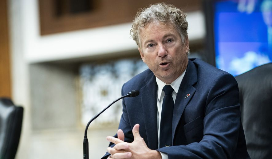 Sen. Rand Paul, R-Ky., speaks during a Senate Health, Education, Labor and Pensions Committee hearing on Capitol Hill in Washington on June 30, 2020. (Al Drago/Pool Photo via AP) **FILE**