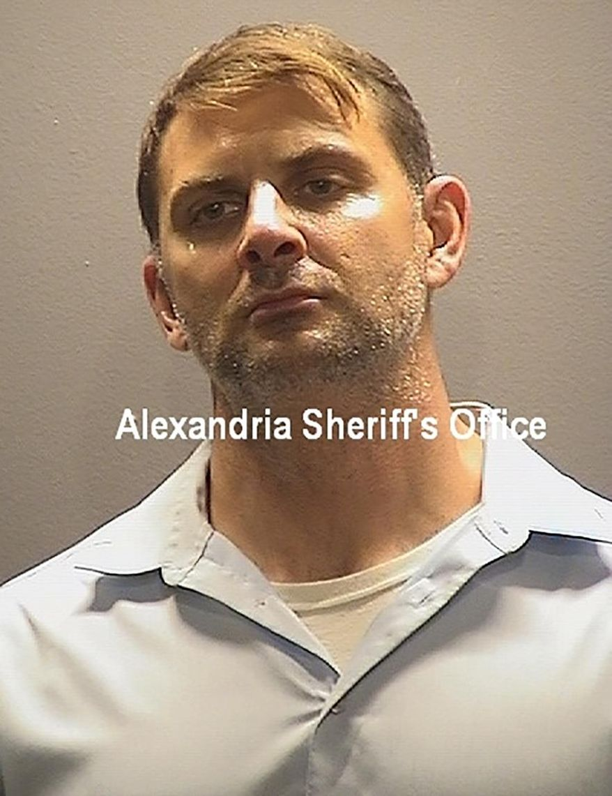 This booking photo provided by the Alexandria, Va, Sheriff's Office, shows Peter Debbins, a former Army Green Beret, who was arrested Friday, Aug. 21, 2020, for allegedly conspiring with Russian intelligence operatives to provide them with United States national defense information. (Alexandria Sheriff's Office via AP)