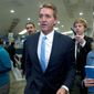 Former Sen. Jeff Flake is among the two dozen former GOP members of Congress who are supporting Joseph R. Biden's campaign. (Associated Press)