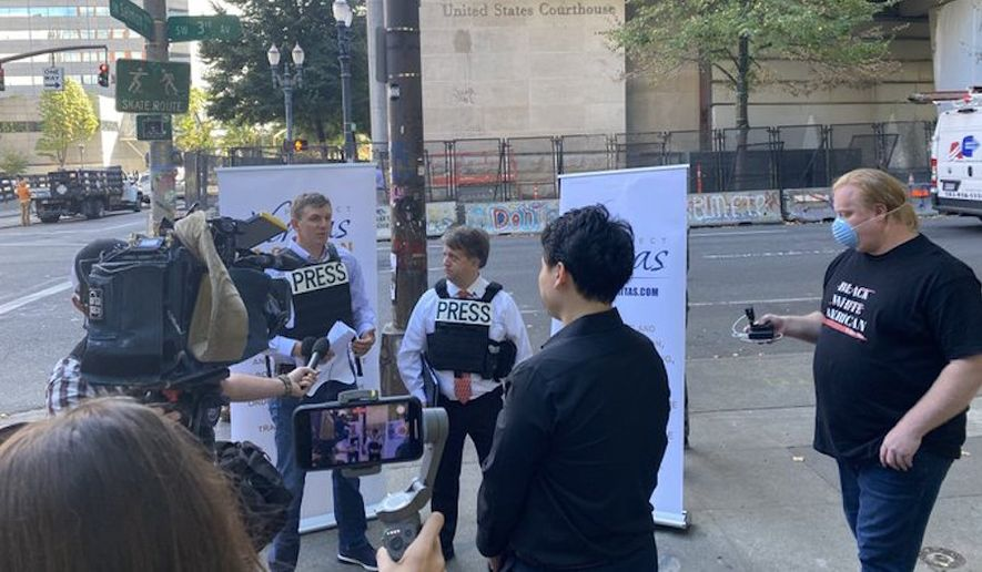 Project Veritas President James O'Keefe (left) filed a lawsuit Monday, Aug. 24, 2020, against Oregon's all-party consent recording law. (Photo courtesy of Project Veritas)