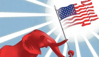 Don't lose confidence in the election process illustration by The Washington Times