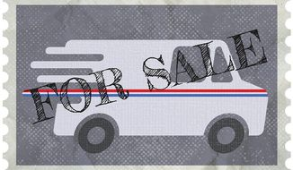 Selling the Postal Service Illustration by Greg Groesch/The Washington Times