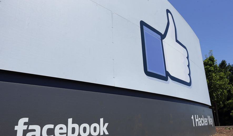 This July 16, 2013 file photo shows a sign at Facebook headquarters in Menlo Park, Calif. (AP Photo/Ben Margot, File)  **FILE**