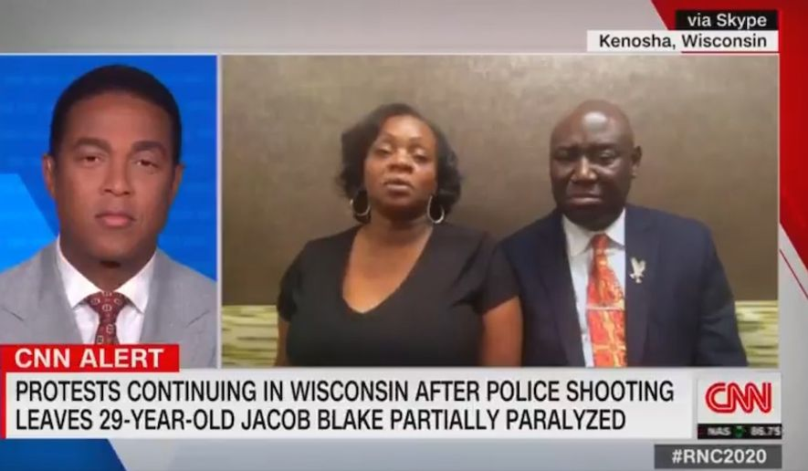 """Julia Jackson, the mother of Jacob Blake, a Black man whose police-involved shooting sparked riots in Kenosha, Wisconsin, said Tuesday she has the """"utmost respect"""" for President Trump and thinks the destruction plaguing the city is """"disgusting."""" (Screen grab via CNN)"""