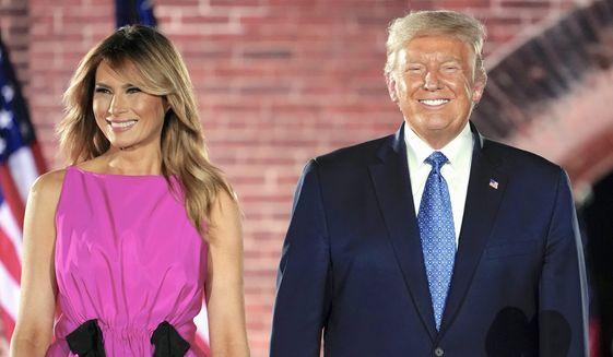President Trump heads back on the campaign trail Friday after he completed a successful Republican National Convention. (Associated Press)