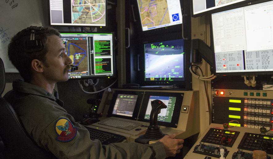 A Remotely Piloted Aircraft pilot flies a training mission at Holloman Air Force Base, N.M.  (U.S. Air Force photo by Senior Airman Emily Kenney)