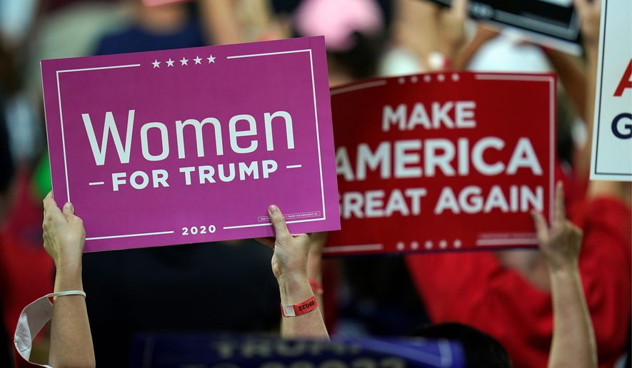 Political pros say President Trump's message of law and order could reach the ranks of White suburban women, who largely rejected the president in 2016, and until now, have no been swayed by his time in office. (Associated Press)