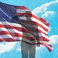 Soldier Salutes American Flag Illustration by Greg Groesch/The Washington Times
