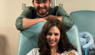 Matt and Susan Leas' twins, Patrick (left) and Sophia, were born about three months early in March. The babies spent several weeks of the pandemic in the NICU at Inova Fairfax Hospital. (Courtesy of Matt Leas)