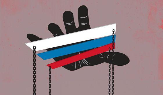 Battle for Belarus illustration by The Washington Times