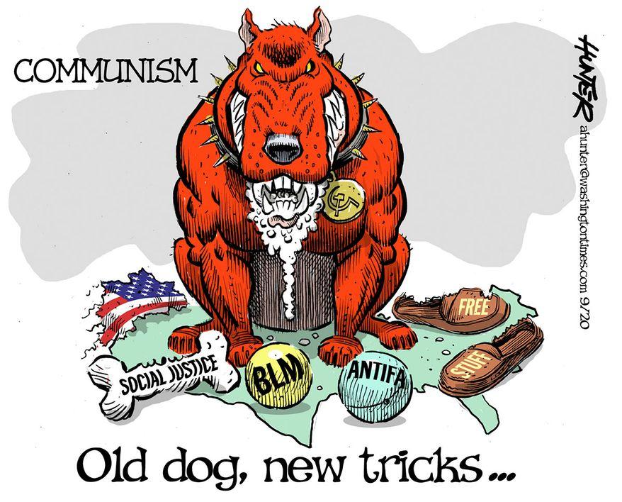 Illustration by Alexander Hunter for The Washington Times (published September 2, 2020)