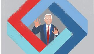 Joe Biden is a prisoner of his own paradoxes illustration by The Washington Times