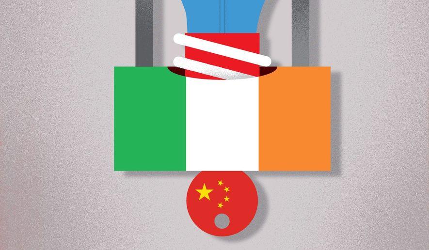 Irish patent-troll hardball helps China illustration by The Washington Times