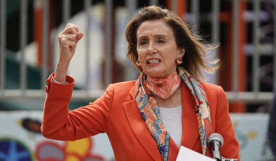 House Speaker Nancy Pelosi speaks at a news conference at the Mission Education Center Elementary School Wednesday, Sept. 2, 2020, in San Francisco. (AP Photo/Eric Risberg)