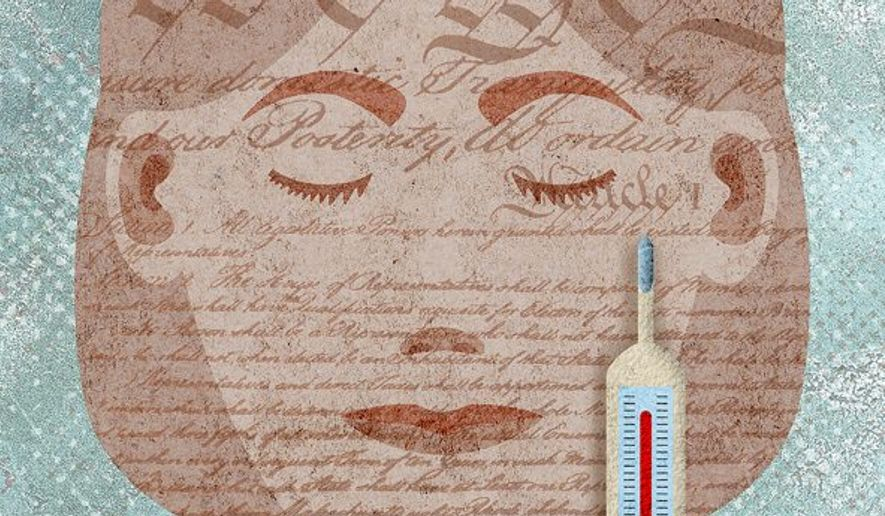 Constitution Face Illustration by Greg Groesch/The Washington Times