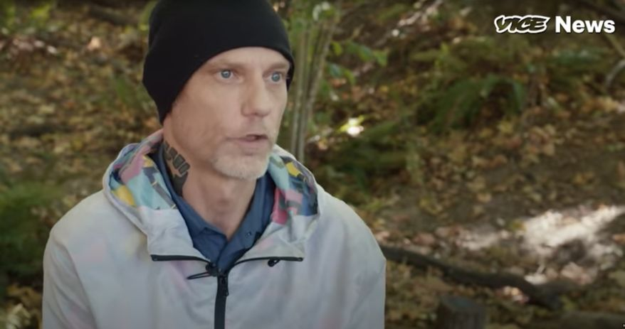 Michael Forest Reinoehl has been identified by news accounts as the person Portland police believe to be involved in the killing of Aaron Danielson, a member of the Patriot Prayer outfit that conducted a car caravan through the city on Saturday. (Vice News via YouTube)