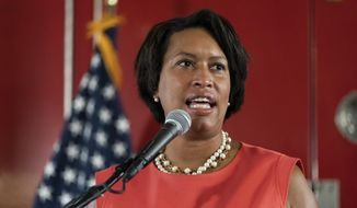 In this file photo, District of Columbia Mayor Muriel Bowser speaks during a news conference on Sept. 4, 2020 (AP Photo/Alex Brandon)  **FILE**
