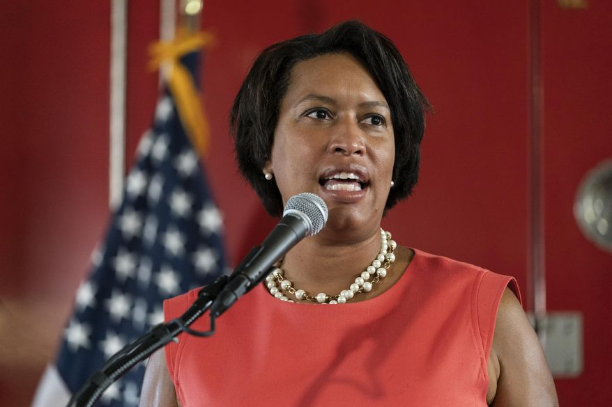 In this file photo, District of Columbia Mayor Muriel Bowser speaks during a news conference on Sept. 4, 2020 (AP Photo/Alex Brandon)  ** FILE **