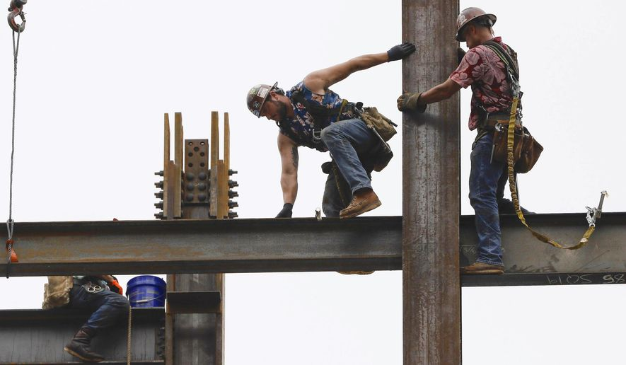 """President Trump released a proclamation for American workers for Labor Day. He called the American workforce """"the best in the world."""" (Associated Press)"""