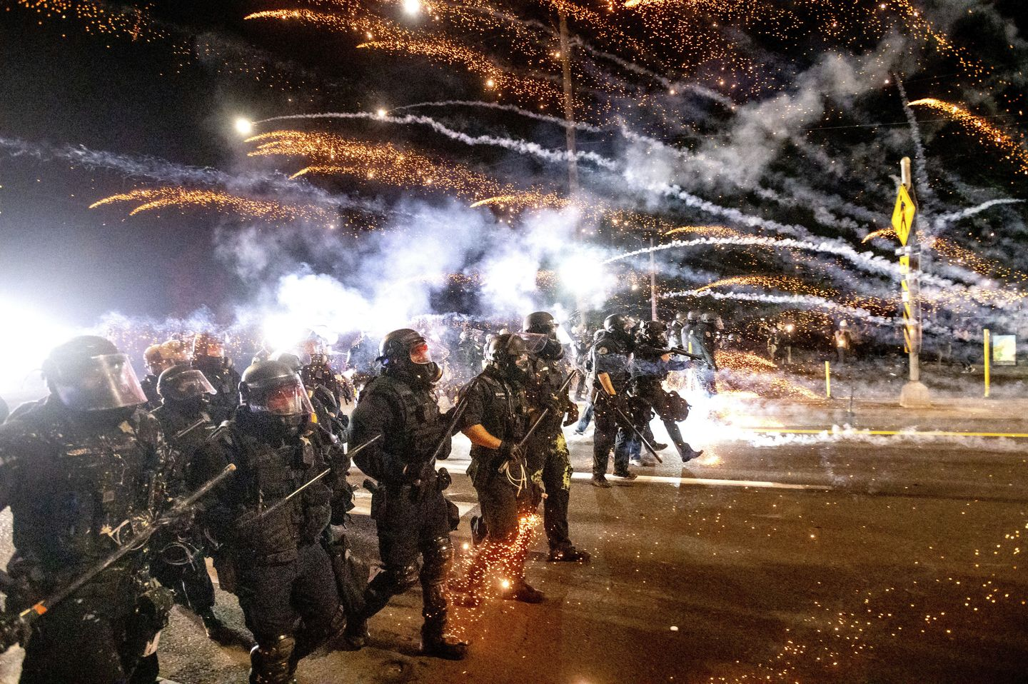 Portland protests mark 100 straight days; police dodge fire bombs