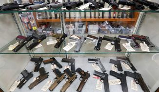 Firearms sales increased 94% for the March-to-July period from a year earlier, according to the National Shooting Sports Foundation. The gun industry trade group found that about 40% of those sales went to first-time gun owners. (Associated Press)