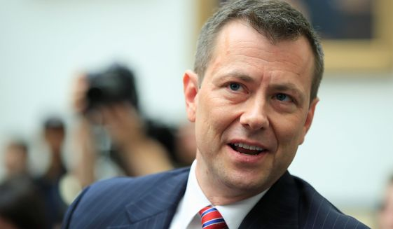 In this July 12, 2018, file photo, then-FBI Deputy Assistant Director Peter Strzok, waits for the start of a House Judiciary Committee joint hearing on Capitol Hill in Washington. (AP Photo/Manuel Balce Ceneta, File)  **FILE**