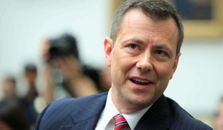 In this July 12, 2018, file photo, then-FBI Deputy Assistant Director Peter Strzok, waits for the start of a House Judiciary Committee joint hearing on Capitol Hill in Washington. (AP Photo/Manuel Balce Ceneta, File)