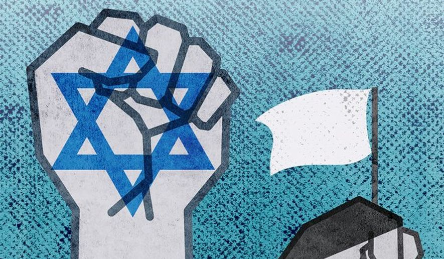 Ending the Israeli-Palestinian Conflict Illustration by Greg Groesch/The Washington Times
