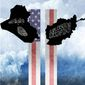 Illustration on the 9/11 wars by Alexander Hunter/The Washington Times