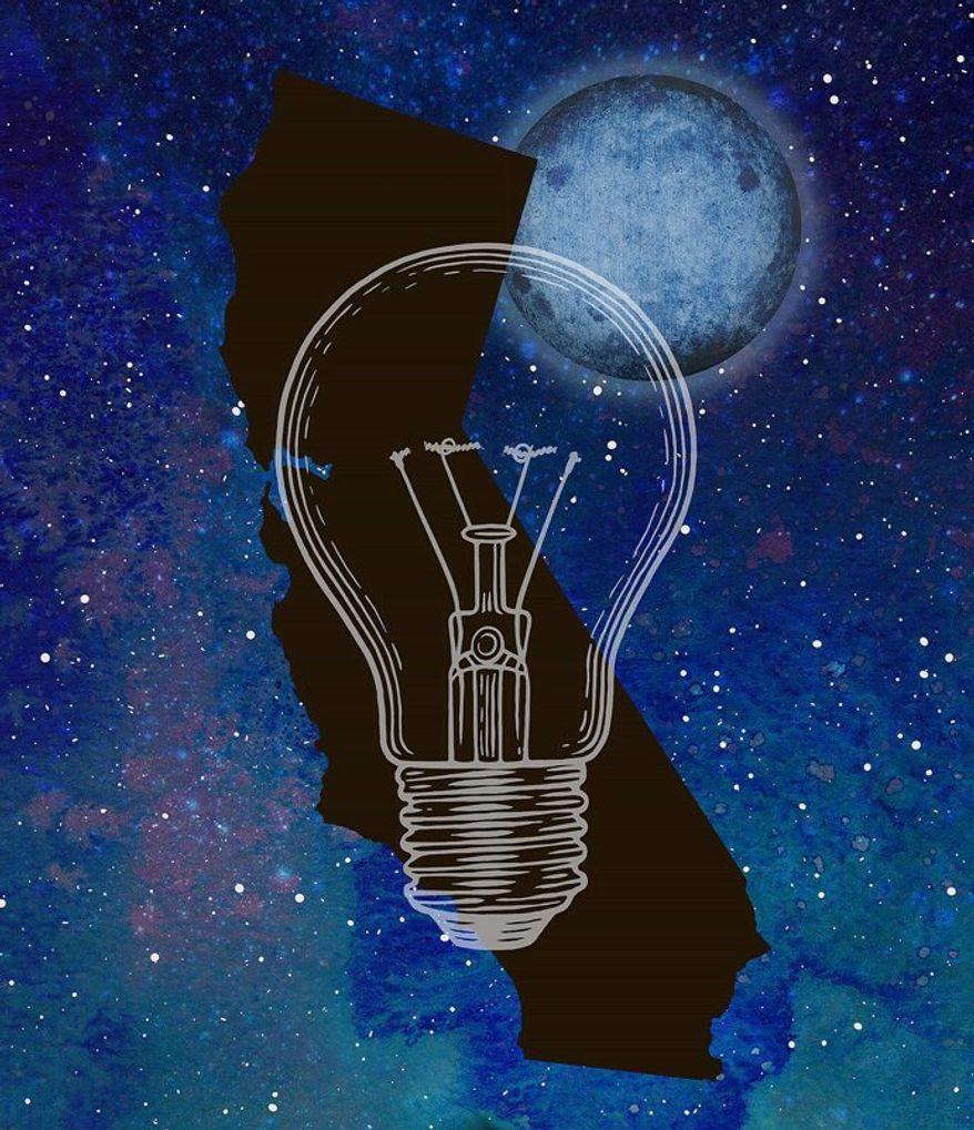California Blackout Illustration by Greg Groesch/The Washington Times