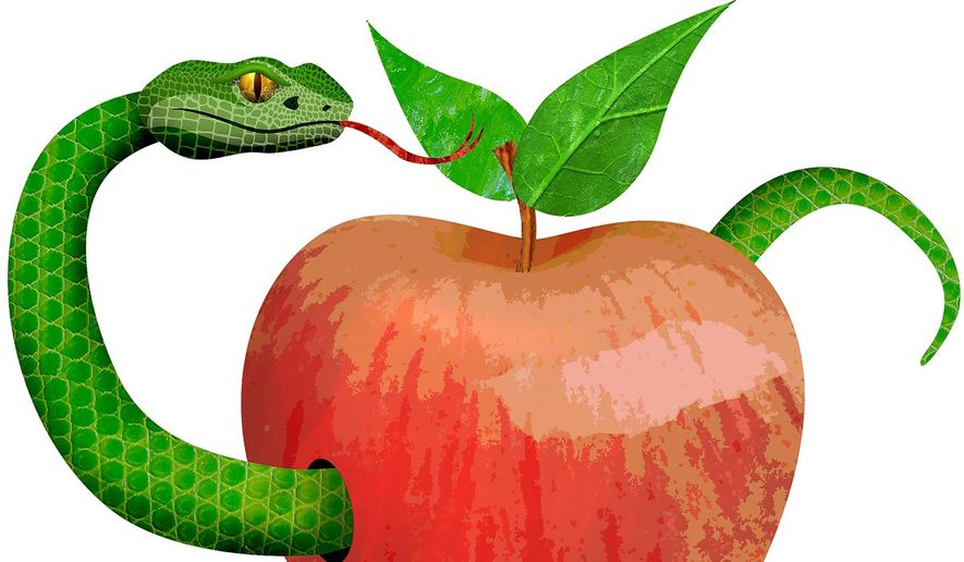 Snake in the Apple Illustration by Greg Groesch/The Washington Times