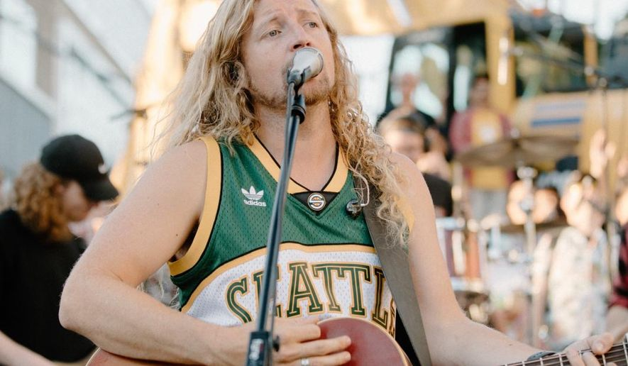 """Sean Feucht Ministries held a Labor Day """"worship protest"""" on the Seattle streets after the Parks and Recreation Department shut down Gas Works Park to stop the group from gathering there, citing the novel coronavirus risk. (Photo courtesy Sean Feucht Ministries)"""