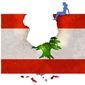 Illustration on the situation in Lebanon by Alexander Hunter/The Washington Times