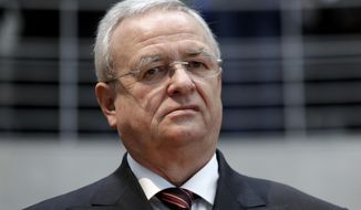 FILE - In this Jan. 19, 2017 file photo Martin Winterkorn, former CEO of the German car manufacturer 'Volkswagen', arrives for a questioning at an investigation committee of the German federal parliament in Berlin, Germany. (AP Photo/Michael Sohn, file)