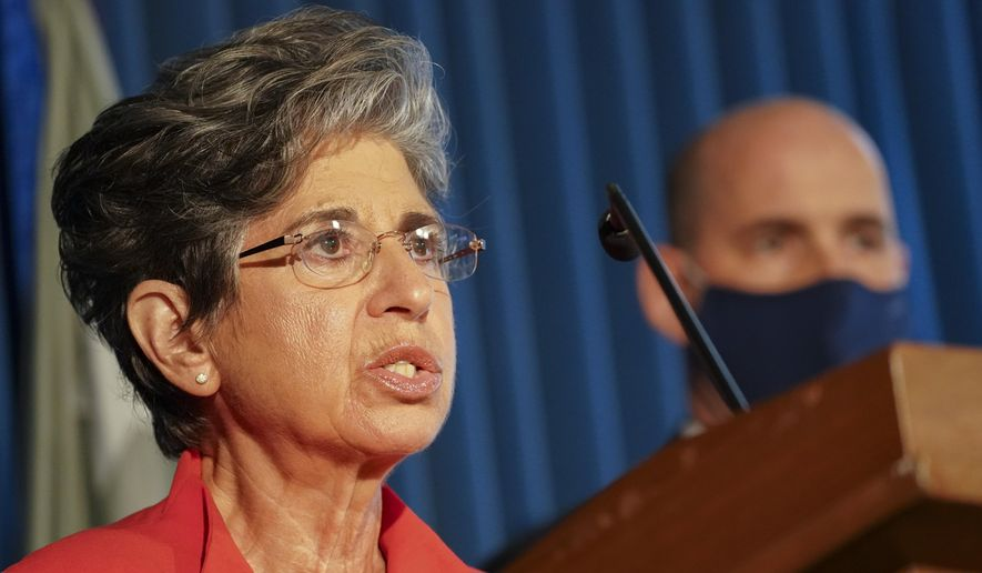 Acting U.S. Attorney for the Southern District of New York Audrey Strauss speaks during a news conference on Wednesday, Sept. 9, 2020, in New York. (AP Photo/John Minchillo) ** FILE **