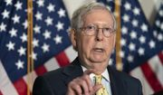 Senate Majority Leader Mitch McConnell of Ky., speaks after meeting with Senate Republicans, Wednesday, Sept. 9, 2020, on Capitol Hill in Washington. (AP Photo/Jacquelyn Martin) ** FILE **