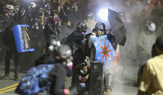 """Political scientist Edward J. Erler has dubbed the Democratic Party as """"The Riot Party"""" in an essay for the American Mind. (Associated Press)"""